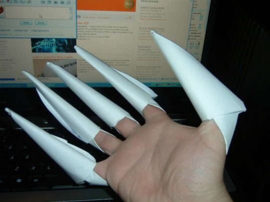 Как сделать бумажные когти