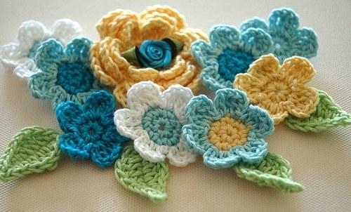 Как вязать разные цветы крючком