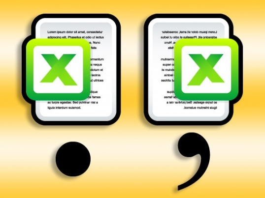 Как в Excel заменить точку на запятую