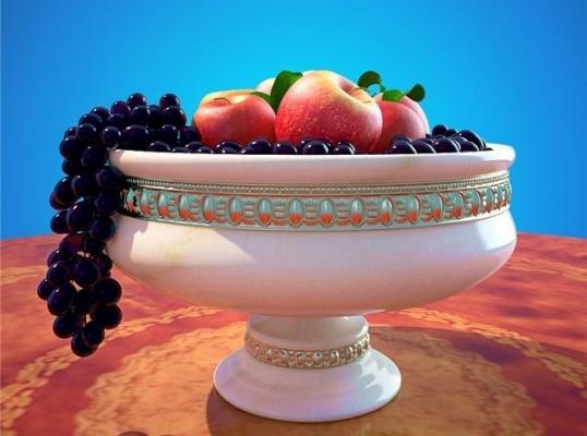 Как нарисовать вазу с фруктами