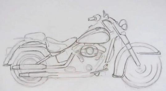 Вопрос нарисовать мотоцикл Рисование