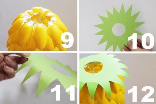 Как сделать абажур из пластиковых ложек Hand-made