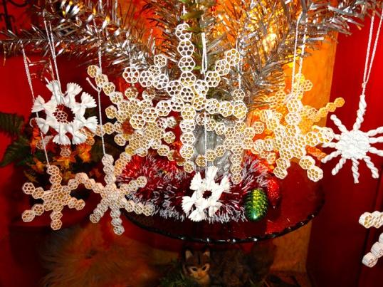Вопрос сделать снежинки из макарон Hand-made
