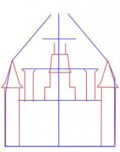 Как нарисовать замок карандашом поэтапно начинающим Рисование