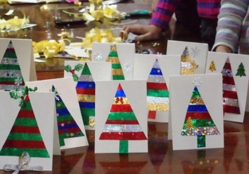 Новогодние открытки своими руками 2015 года