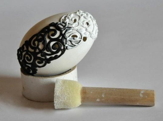 Как сделать декор яйца в винтажном стиле Мастер-класс