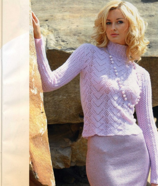 Как связать красивый ажурный свитер спицами Мастер-класс