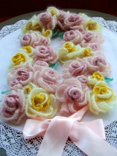 Как связать шарф из роз Мастер-класс