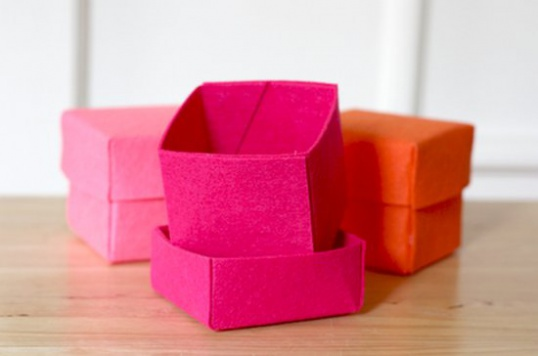 Как сделать коробочку из фетра Hand-made