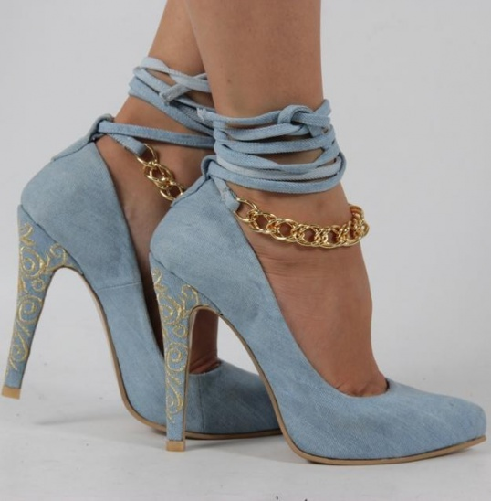 С чем носить туфли лодочки | Джинсовые туфли