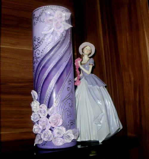 РОСПИСНАЯ ваза с розами Мастер-класс