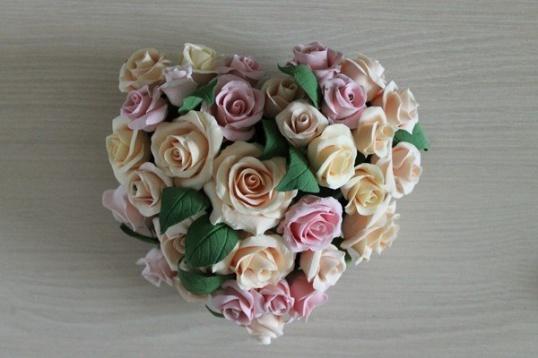 Как сделать розу из полимерной глины Мастер-класс