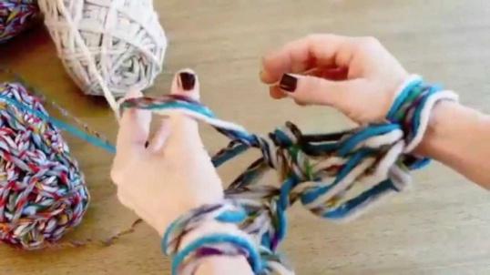 Как научиться вязать руками без спиц и крючков Мастер-класс