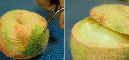 Как сделать шкатулку из шерсти  Мастер-класс