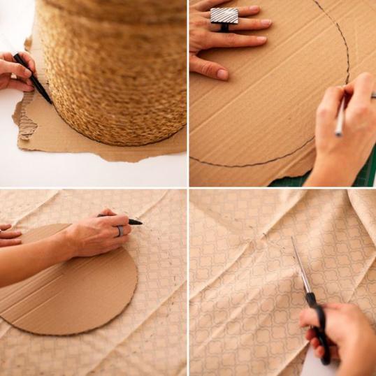 Как сделать пуфик из пластикового ведра Hand-made