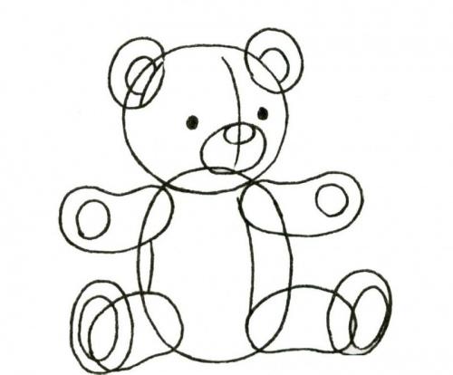 Мишка игрушка рисунок поэтапно
