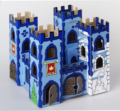 Замок из коробок своими руками картинки 48