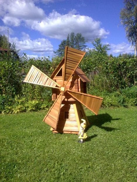 Ветряная мельница для дачи своими руками 29