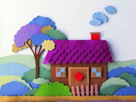 Поделки в детский садик из бумаги 41