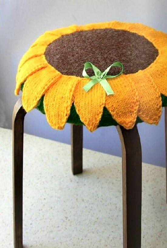 Вязание крючком накидки на стул подсолнух 30