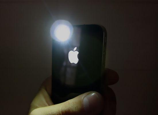 Как сделать фонарик чтобы светился когда звонят