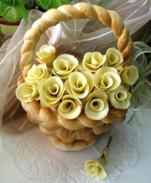 Розы из сладкого теста своими руками 5