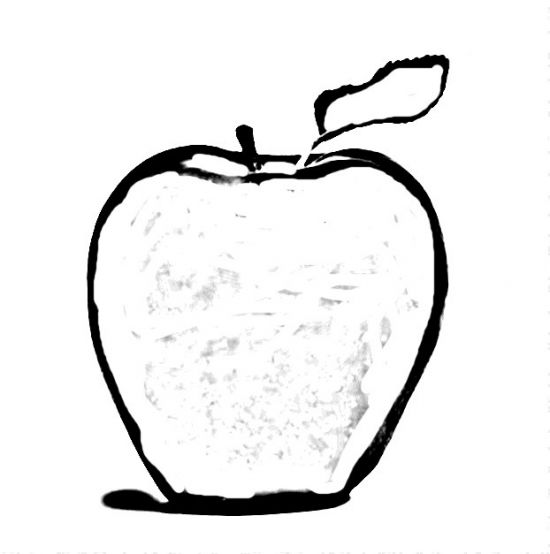 Картинка яблоко нарисованное карандашом