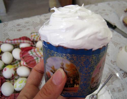 Глазурь для кулича пасхального из сахарной пудры