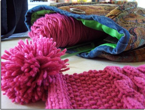 Бубоны на шарф как сделать