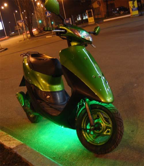 Как установить подсветку на скутер
