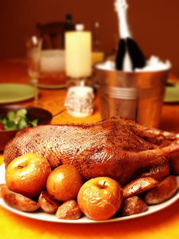 Как готовить новогоднего гуся