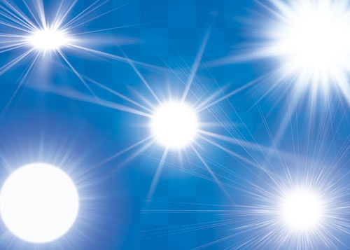 Как делать блики от солнца на фото