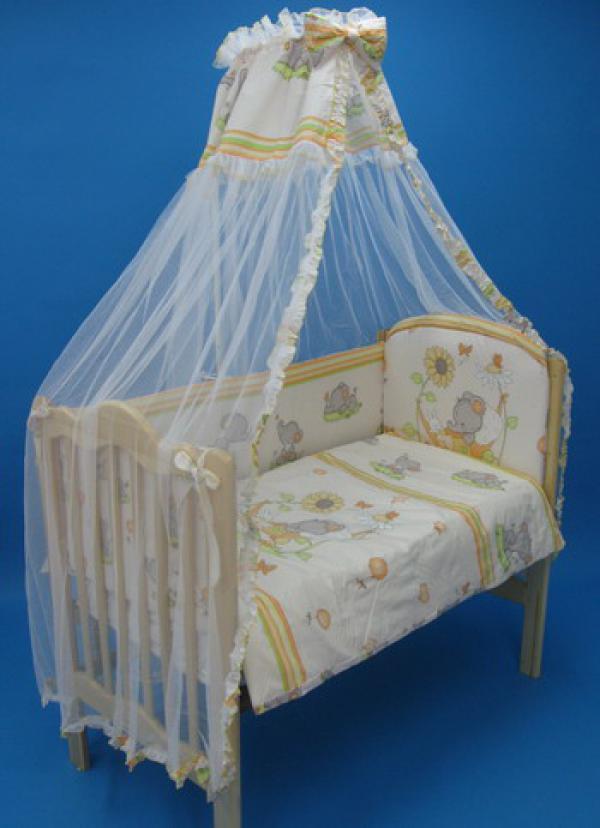 Как закрепить балдахин к детской кроватке