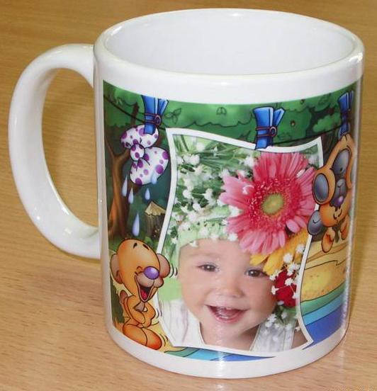 How to put photos on a mug