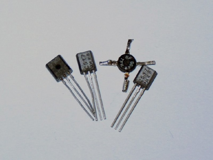 How to open the transistor