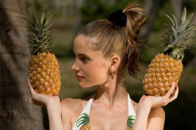 Как определить спелый ананас