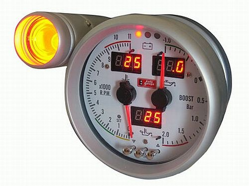 How to connect an external tachometer