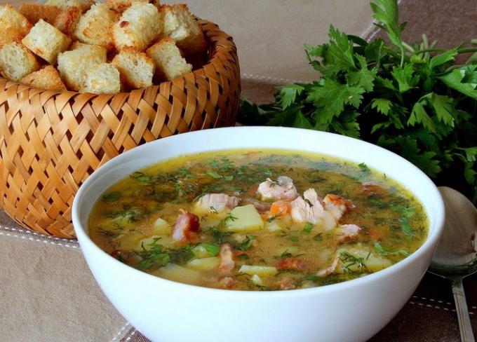 Как сварить гороховый суп с копченостями