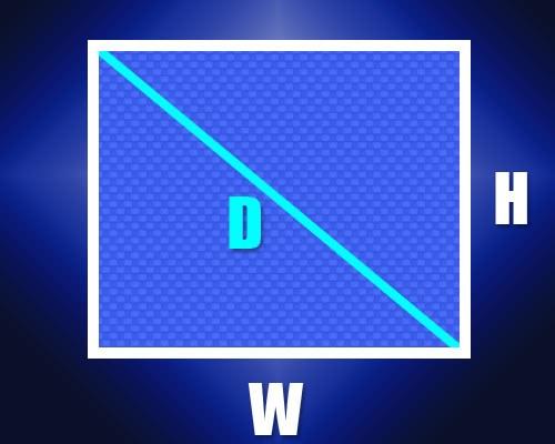 Как найти длину диагонали прямоугольника