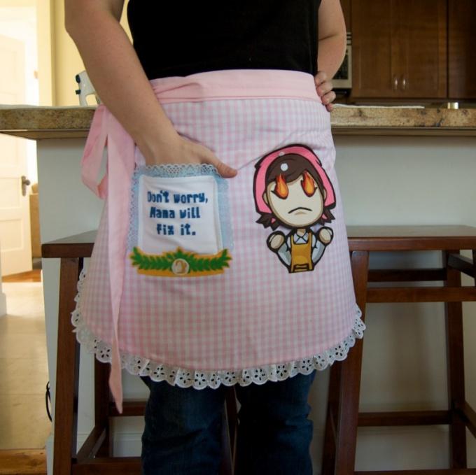 Как сшить фартук кухонный