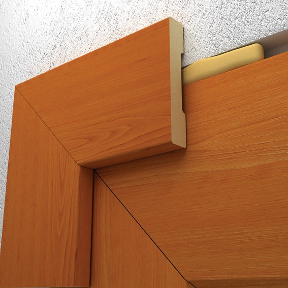 Как установить дверной наличник