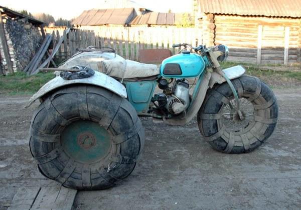 Как сделать болотоход из мотоцикла