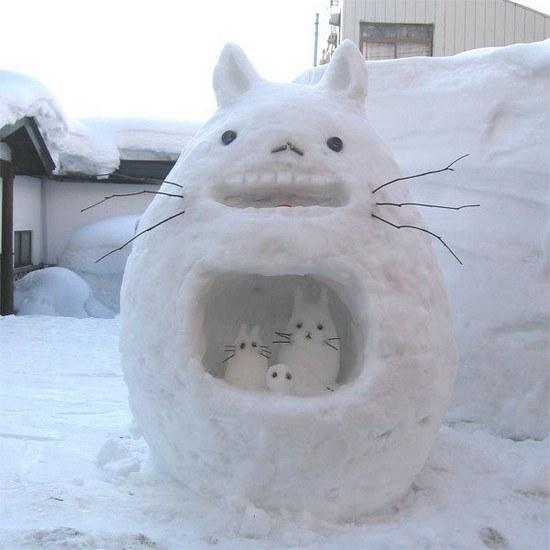 Как лепить фигуры из снега