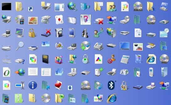 How to make desktop icons small