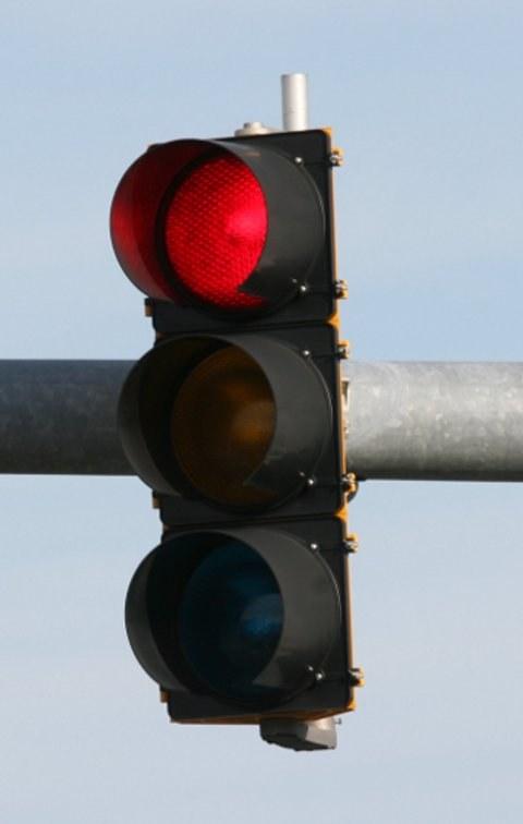 Как остановиться на светофоре