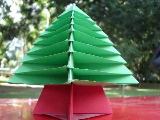 Как сделать новогоднее оригами