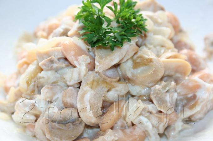 салат с фасолью и грибами фото рецепт
