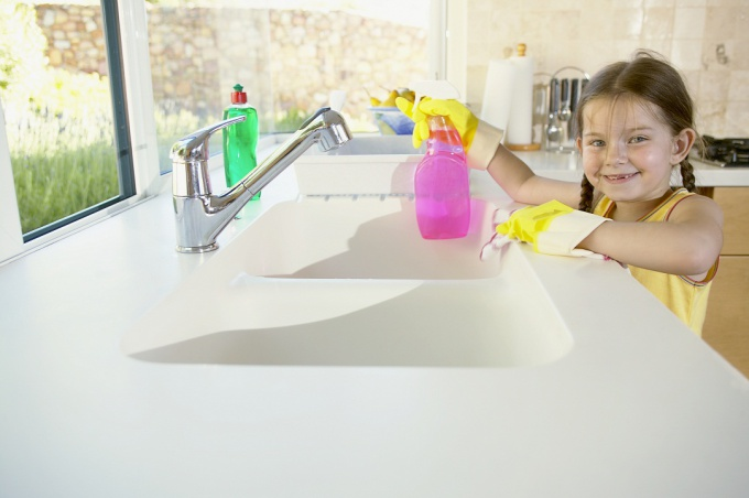 How to clean frosted glass