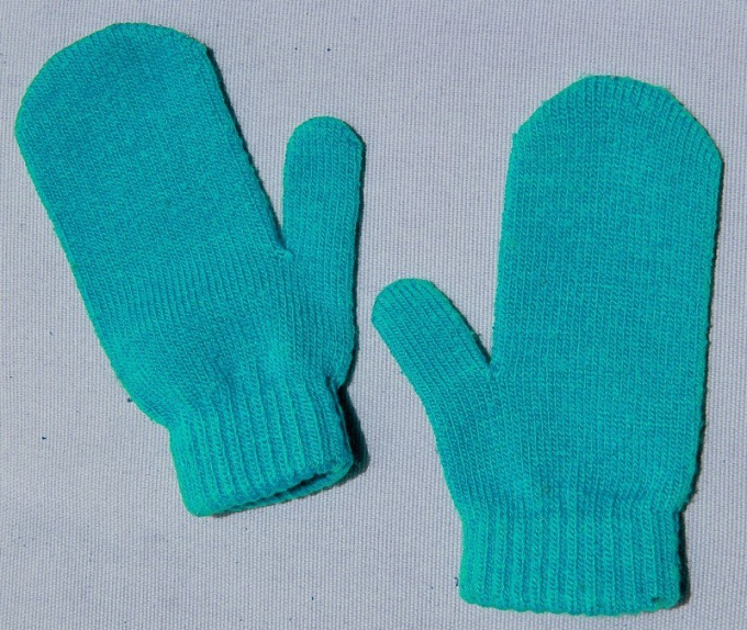 How to knit children's mittens knitting