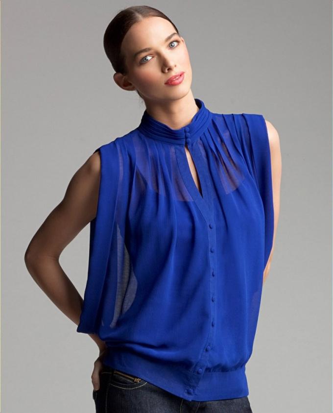 Блуза из шифона, фото